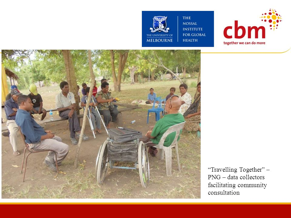 Travelling Together – PNG – data collectors facilitating community consultation
