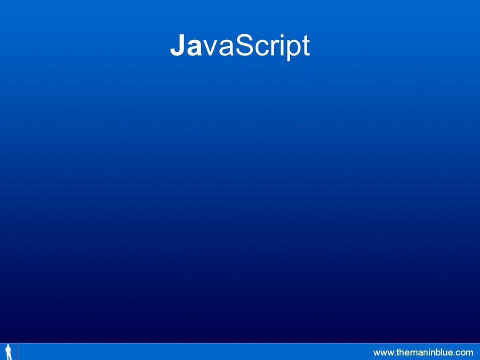 www.themaninblue.com JavaScript