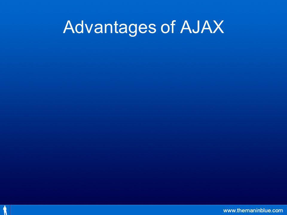 www.themaninblue.com Advantages of AJAX