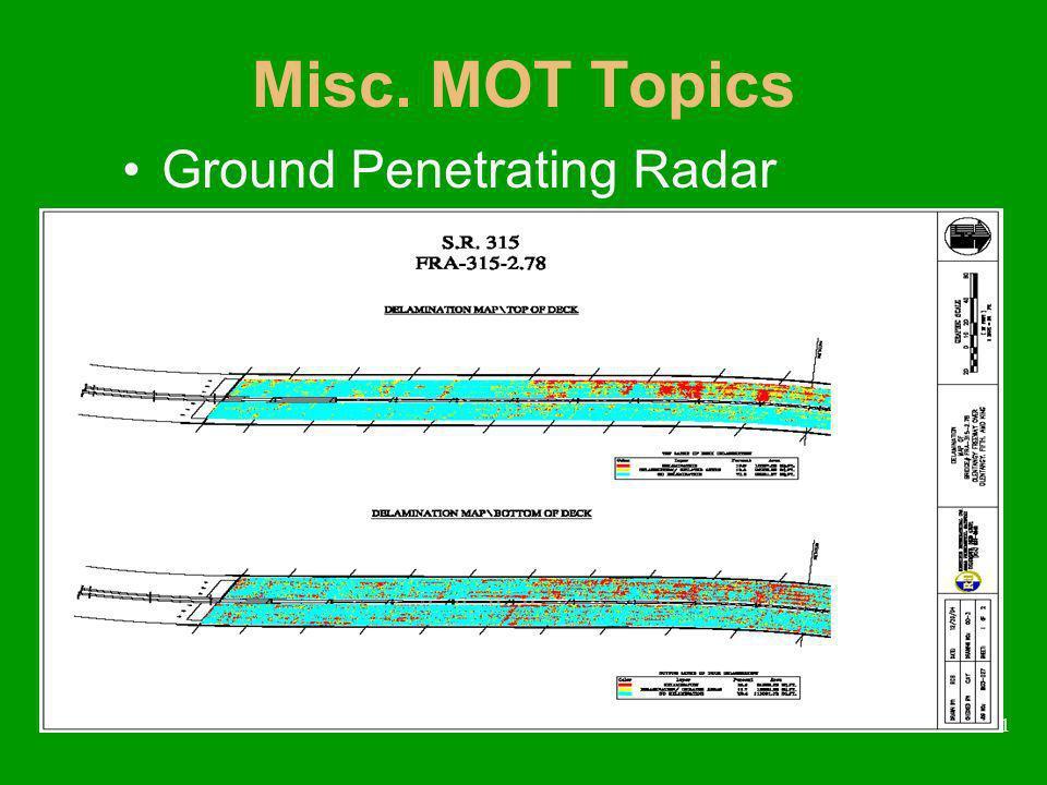 41 Misc. MOT Topics Ground Penetrating Radar