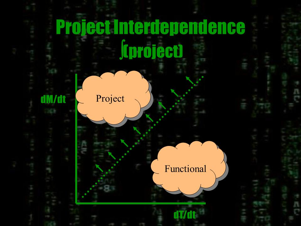 Functional Interdependence (function) dT/dt dM/dt Project Functiona l