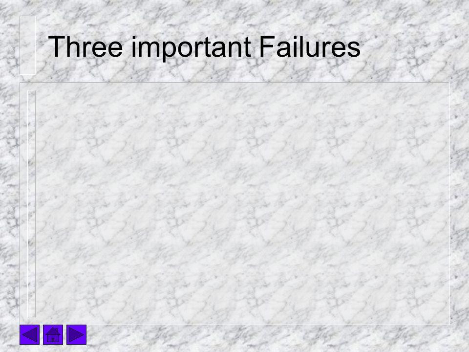 Three important Failures