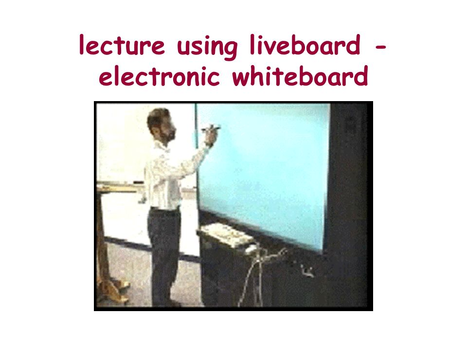 lecture using liveboard - electronic whiteboard