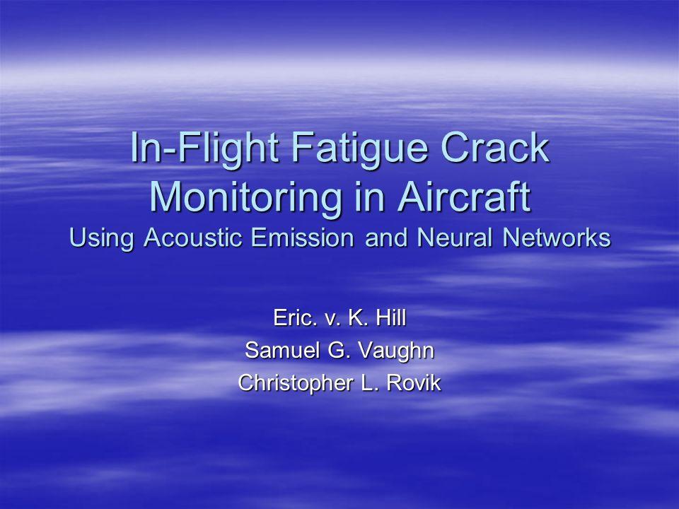 Fatigue Crack Monitoring Background Background Test Setup & Procedure Test Setup & Procedure Acoustic Emission Acoustic Emission Neural Networks Neural Networks Results Results Conclusions & Recommendations Conclusions & Recommendations