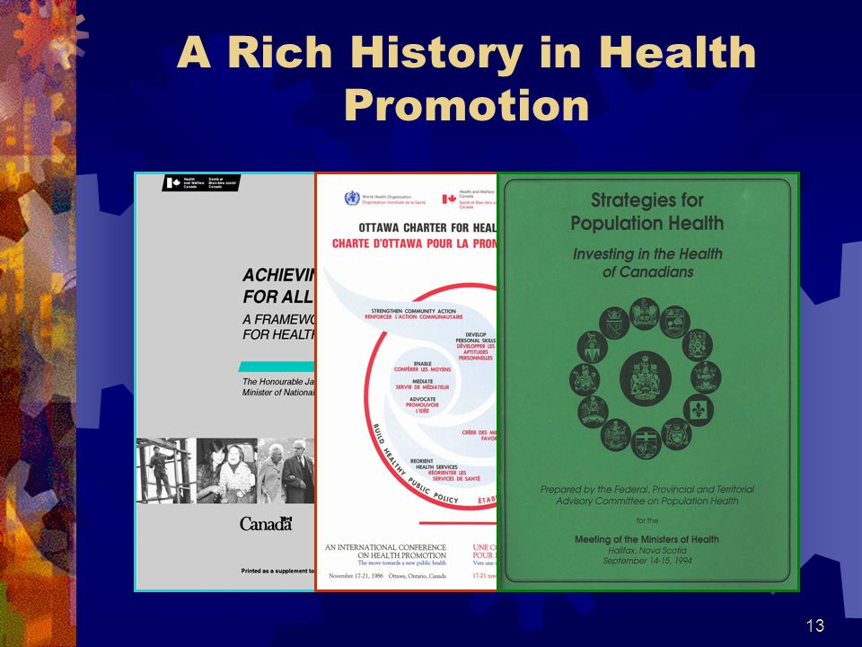 13 A Rich History in Health Promotion