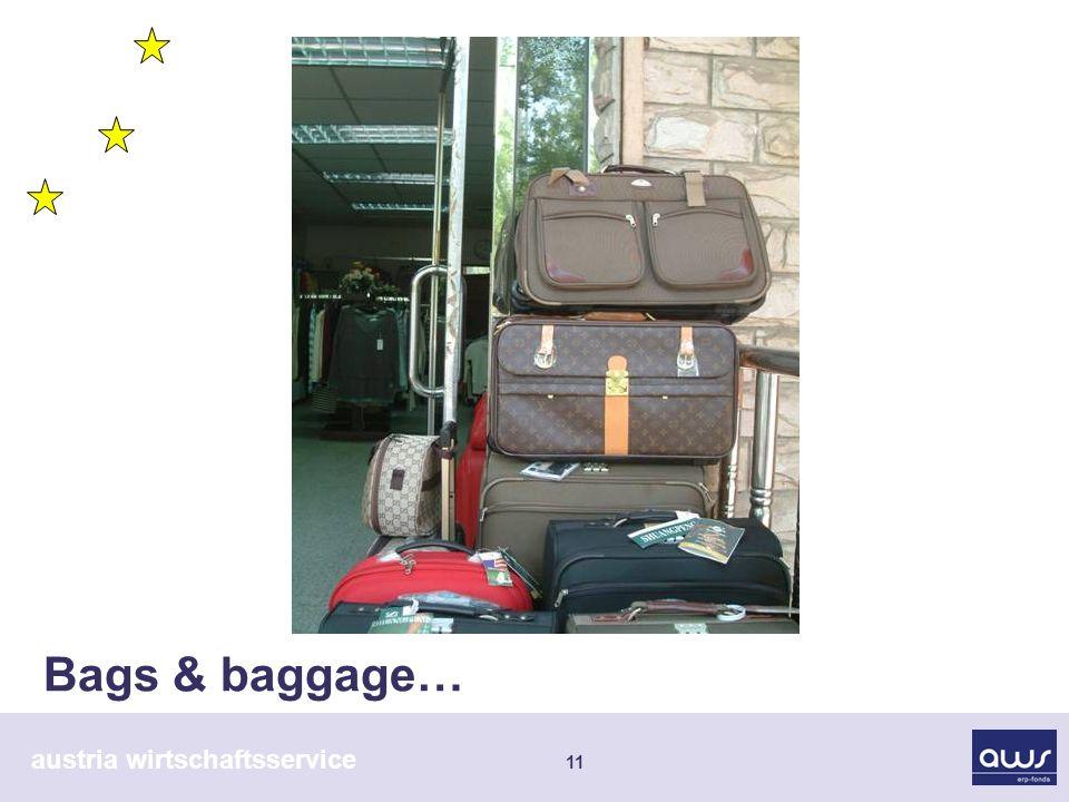 austria wirtschaftsservice 11 Bags & baggage…