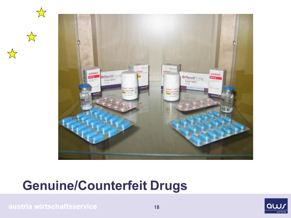 austria wirtschaftsservice 18 Genuine/Counterfeit Drugs