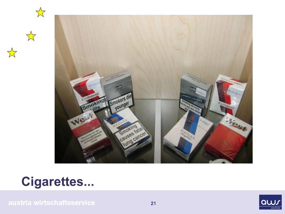 austria wirtschaftsservice 21 Cigarettes...