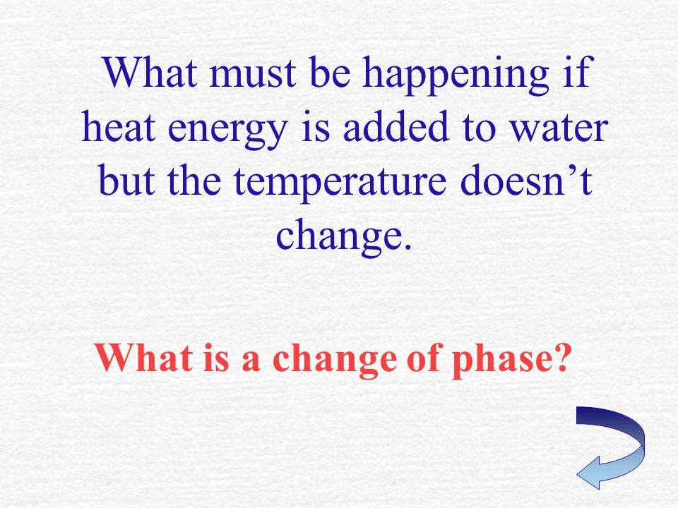 The greatest number of joules are released into the air when H 2 O changes between this phase and this phase.