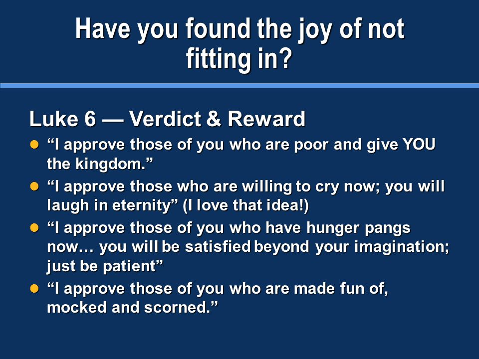 Have you found the joy of not fitting in.