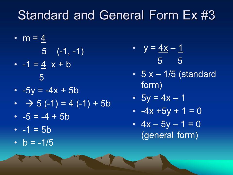 Standard & General Form Ex.