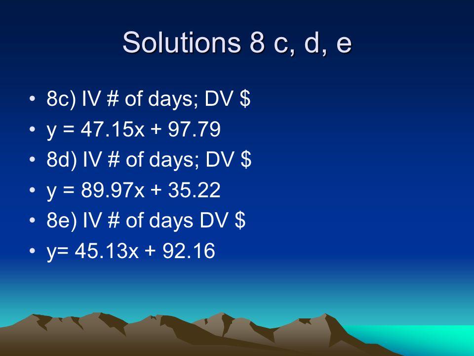 Example #2 8a Soln y = mx + b (19, 1264.92) 1264.92 = 62.25 (19) + b 1264.92 = 1182.75 + b 82.17 = b b = 82.17 y = 62.25x + 82.17