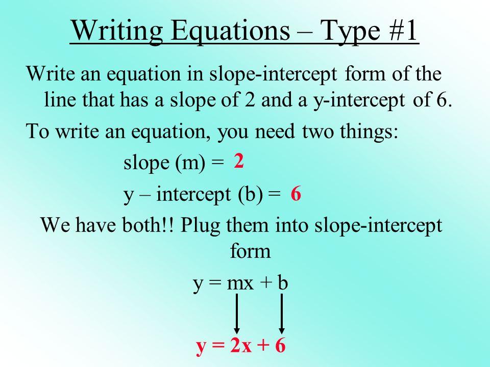 Write it in slope-intercept form.