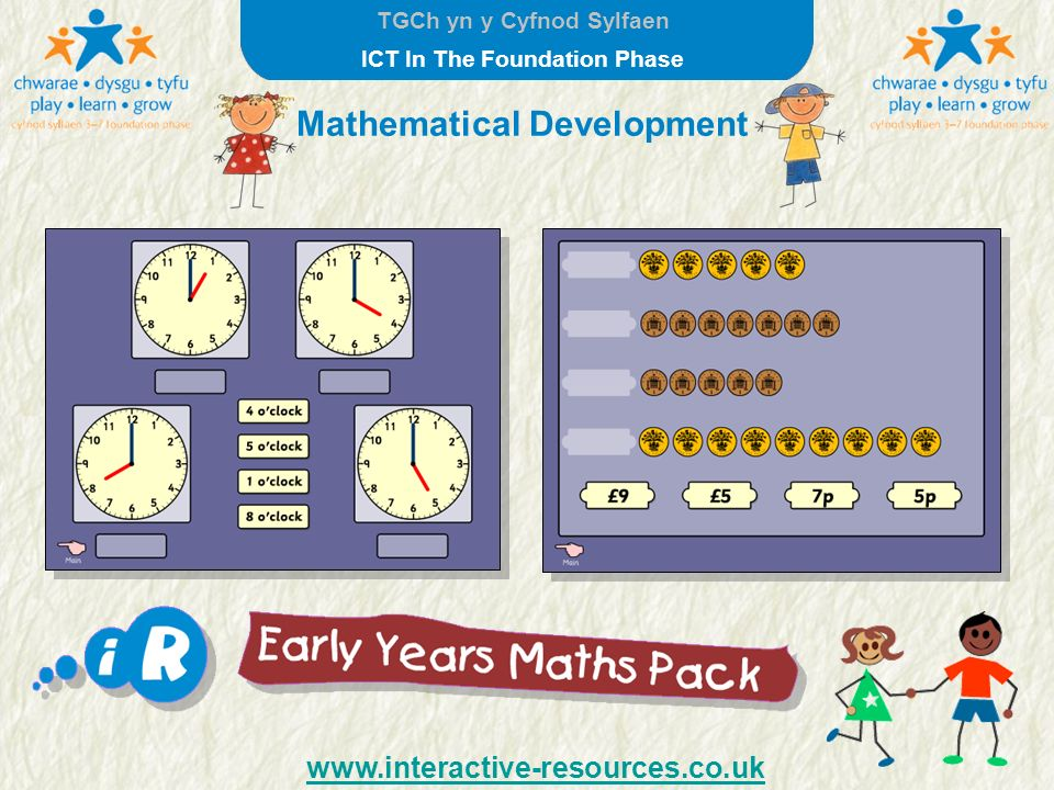 TGCh yn y Cyfnod Sylfaen ICT In The Foundation Phase Mathematical Development www.interactive-resources.co.uk