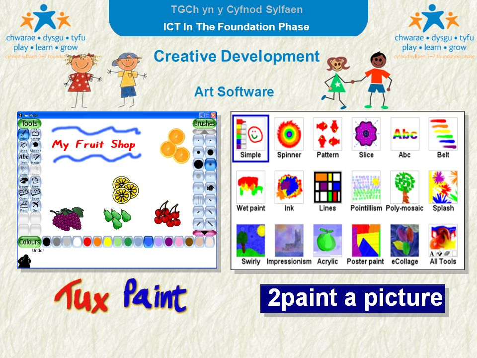 TGCh yn y Cyfnod Sylfaen ICT In The Foundation Phase Creative Development Art Software