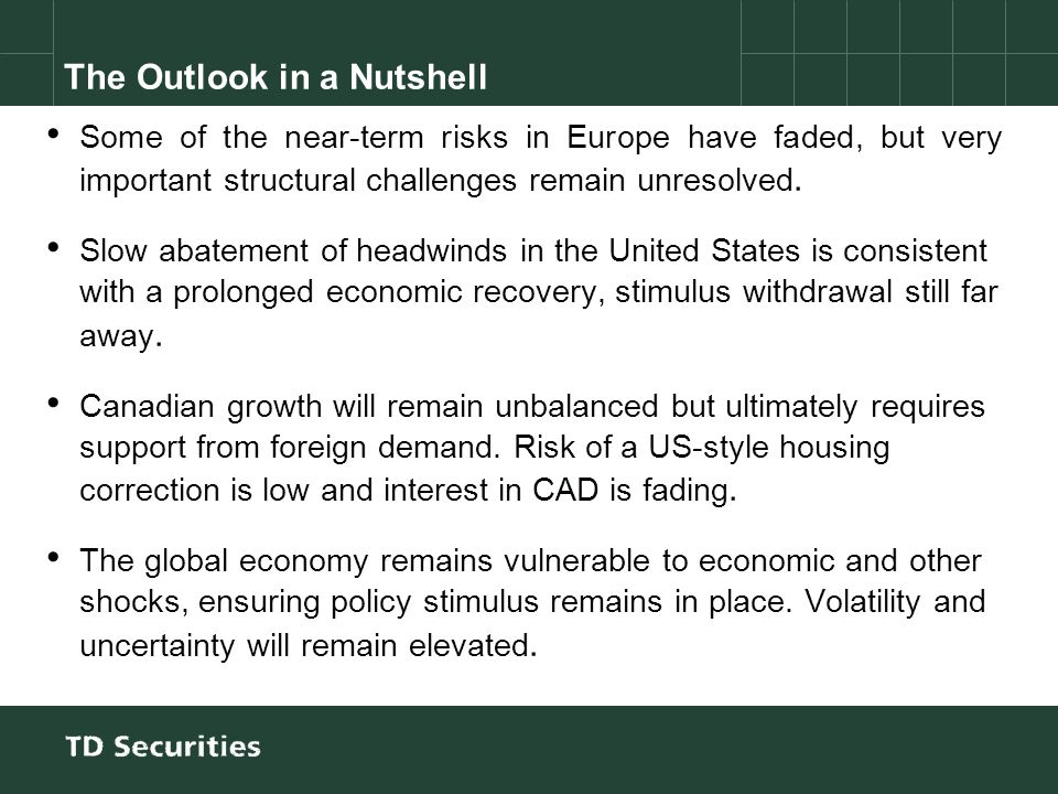 Some of the near-term risks in Europe have faded, but very important structural challenges remain unresolved.