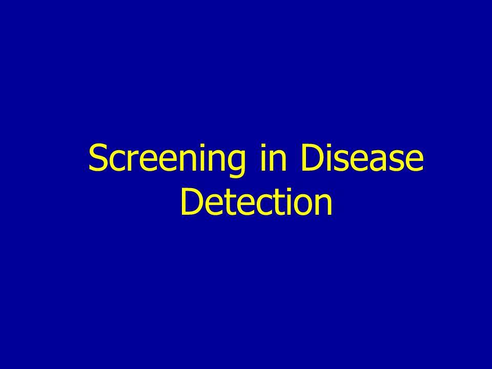 Screening in Disease Detection