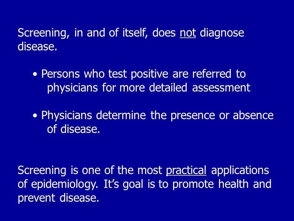 When is it appropriate to initiate screening programs.