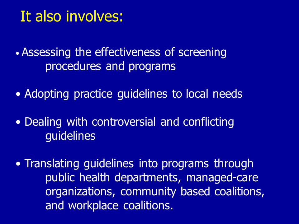 Community Media Managed care Health Departments Universities Schools Workplaces Community Based Organizations (e.g.