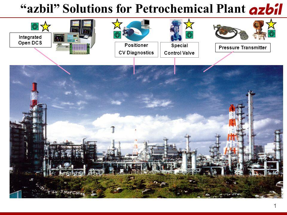 1 Pressure Transmitter Integrated Open DCS Positioner CV Diagnostics azbil Solutions for Petrochemical Plant Special Control Valve