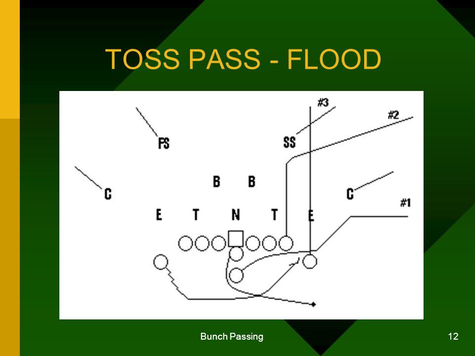 Bunch Passing 12 TOSS PASS - FLOOD