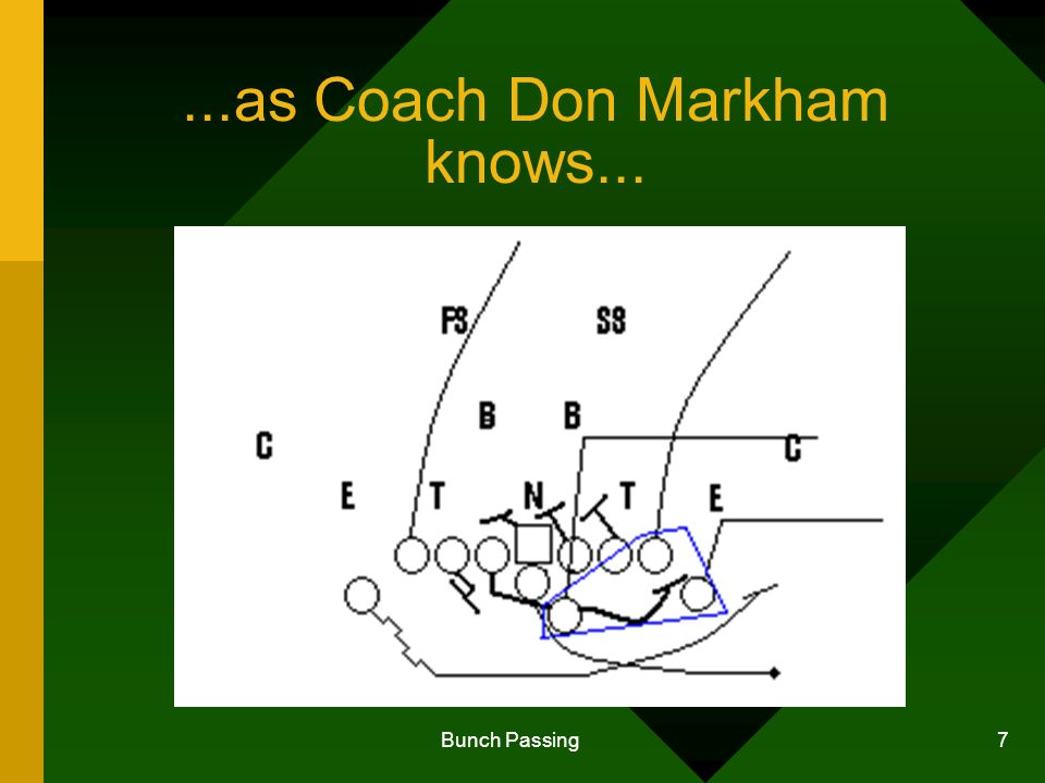 Bunch Passing 7...as Coach Don Markham knows...