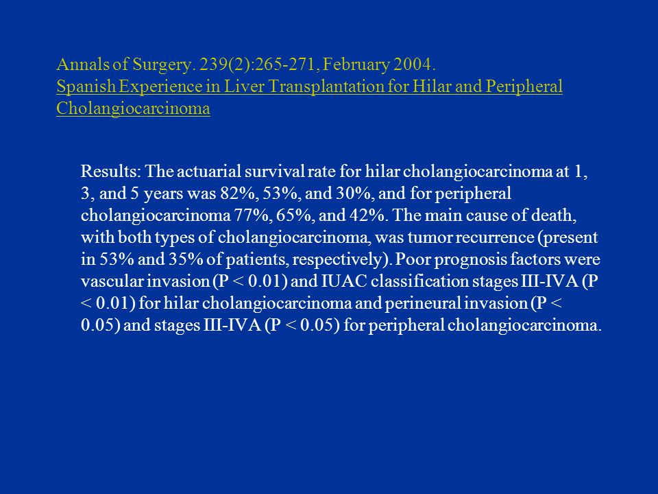 Annals of Surgery.239(2):265-271, February 2004.