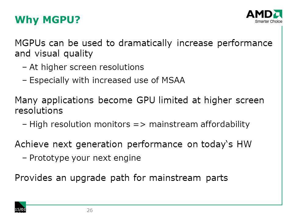 Why MGPU.
