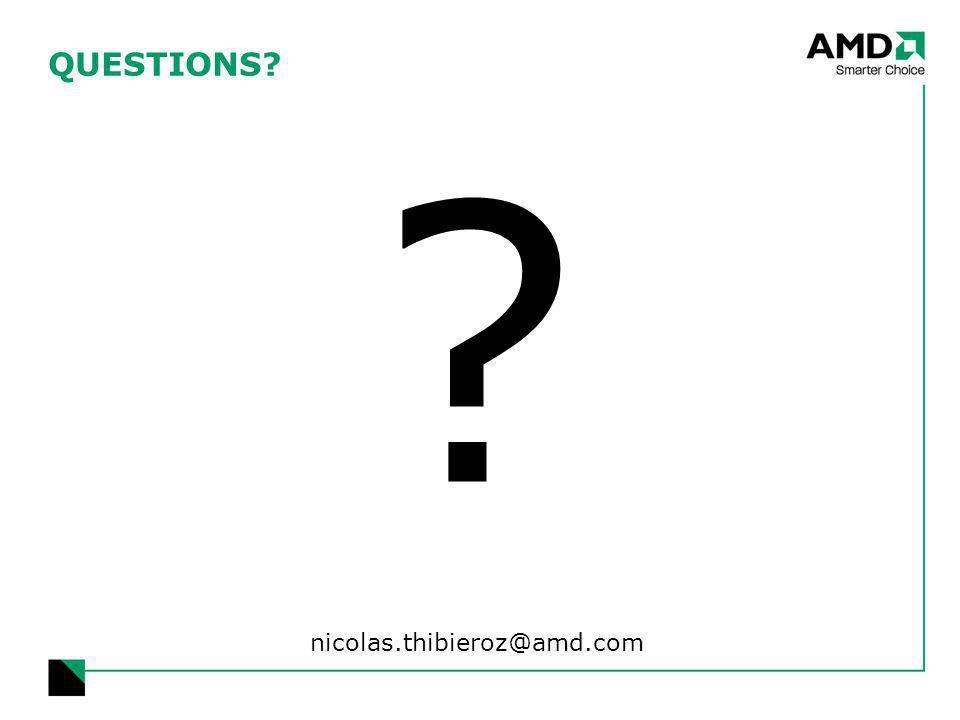 QUESTIONS nicolas.thibieroz@amd.com