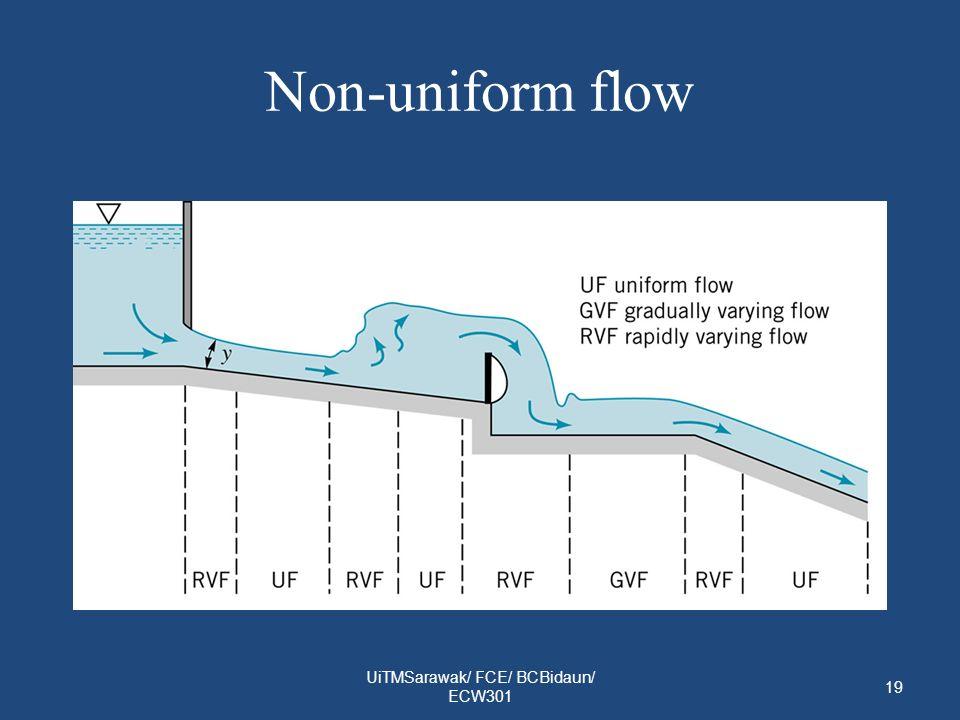 Non-uniform flow UiTMSarawak/ FCE/ BCBidaun/ ECW301 19