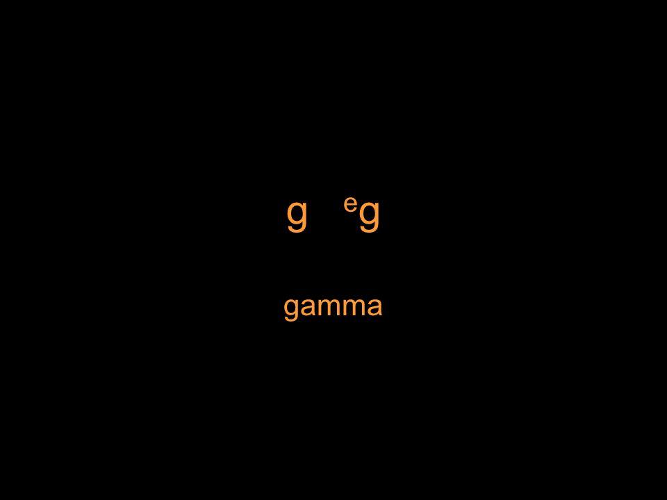 g e g gamma