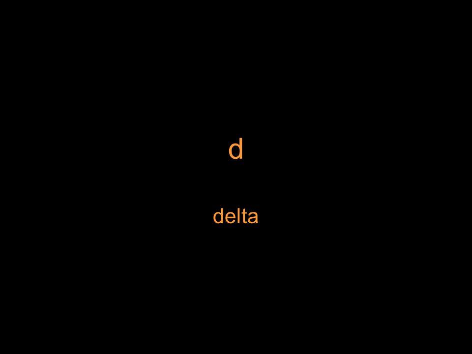 d delta