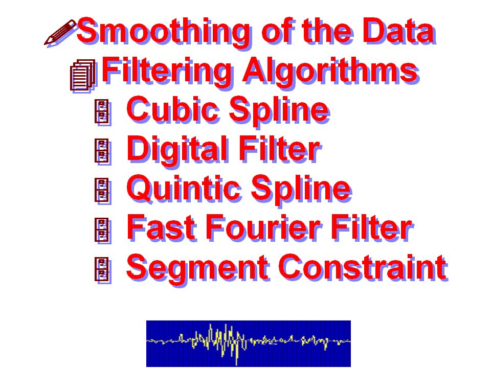 Filtering/Smoothing