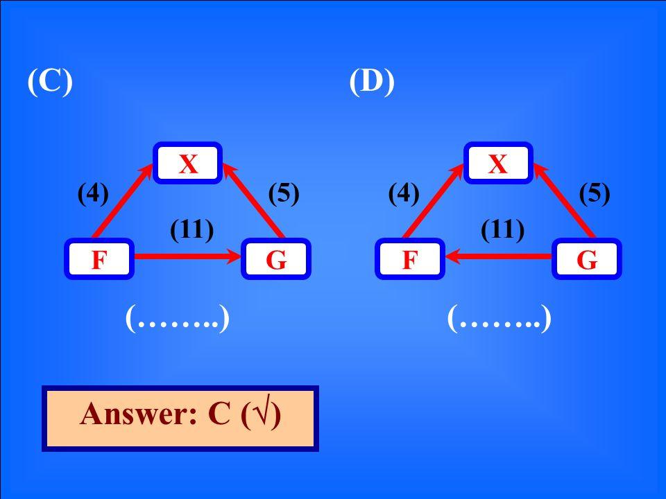 (C)(D) (……..) Answer: C ( ) (5)(4) (11) GF X (5)(4) (11) GF X
