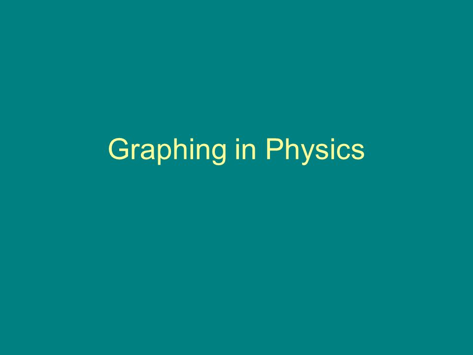 Graphing in Physics