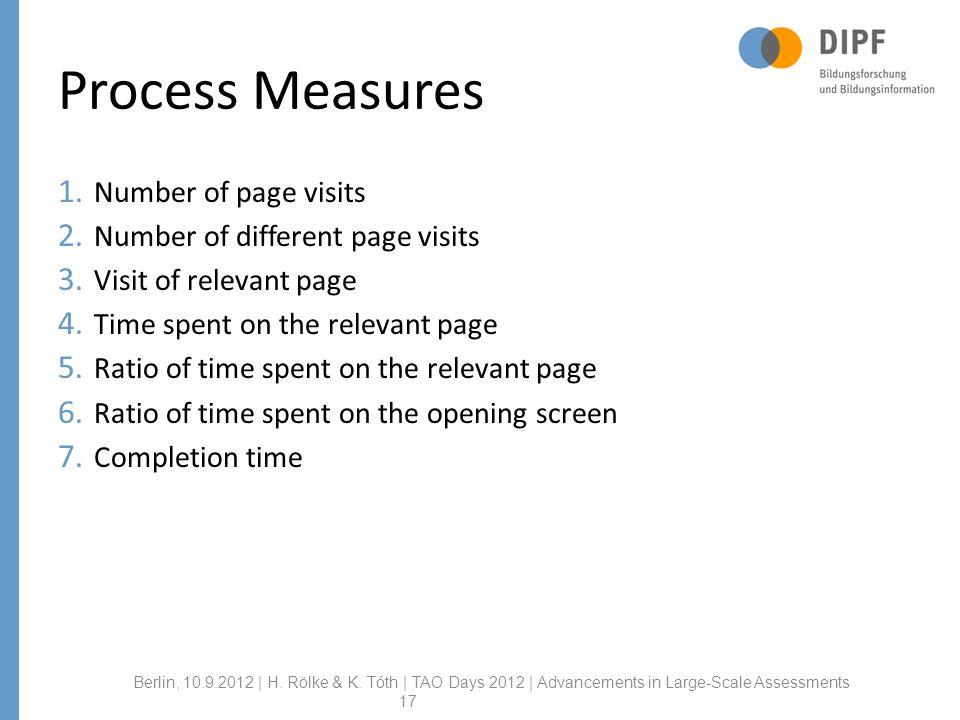Process Measures Berlin, 10.9.2012 | H. Rölke & K.
