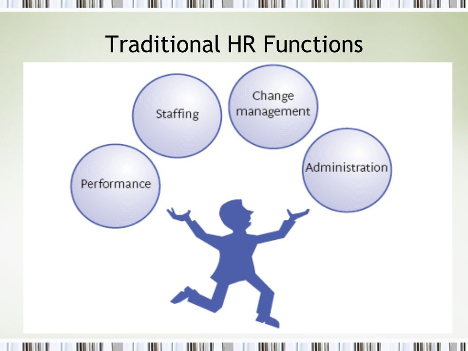 Traditional HR Functions