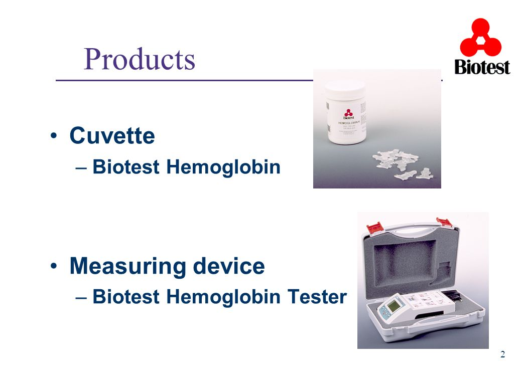 3 Function Cuvette Blood capillary, reagent and measuring cuvette in one.