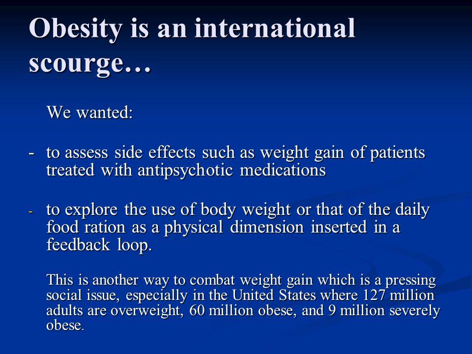 …a public health problem, a plague, a world epidemic.