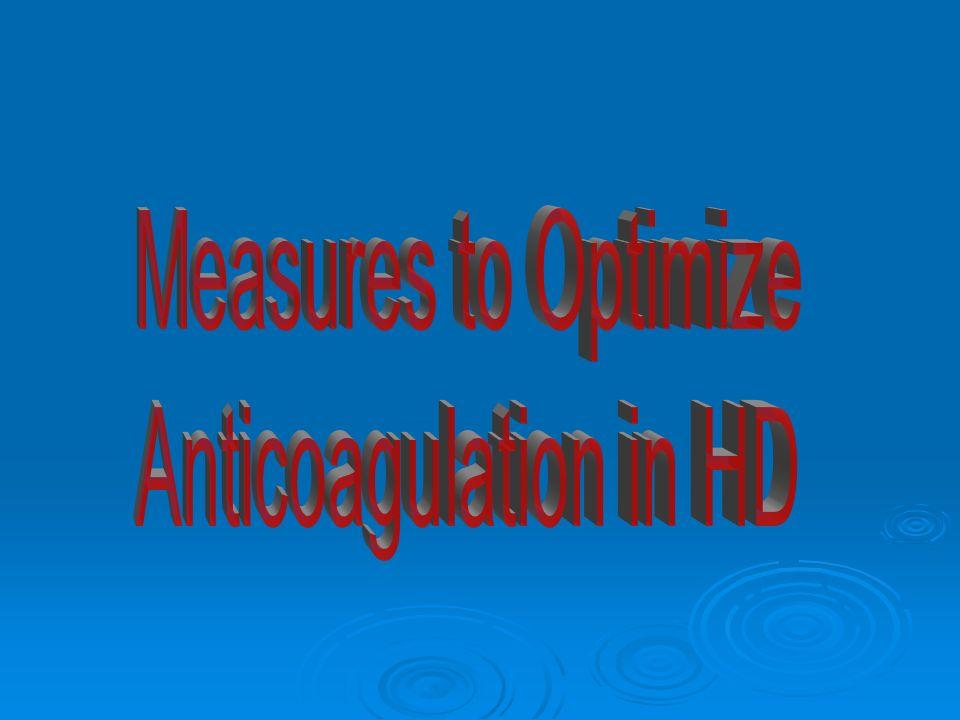 Low Molecular Weight Heparin Enoxaparin 1 mg/kg/dose (mean 0.7) Polkinghorne; AJKD, 2002 Dalteparin 39 u/kg/dose Polkinghorne; AJKD, 2002 Tinzaparin 2000-2500 IU anti-Xa Hemostasis, 1996