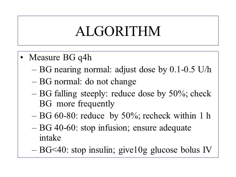 IF THERE IS NO PUMP 500 ml NS + 50 U insulin infusion 1 U = 10 ml NS 1 U/hr = 10 microdrops/min