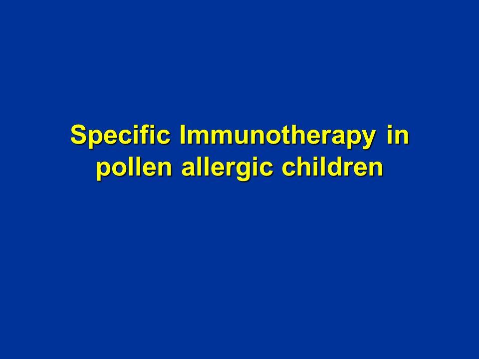 Specific Immunotherapy in pollen allergic children