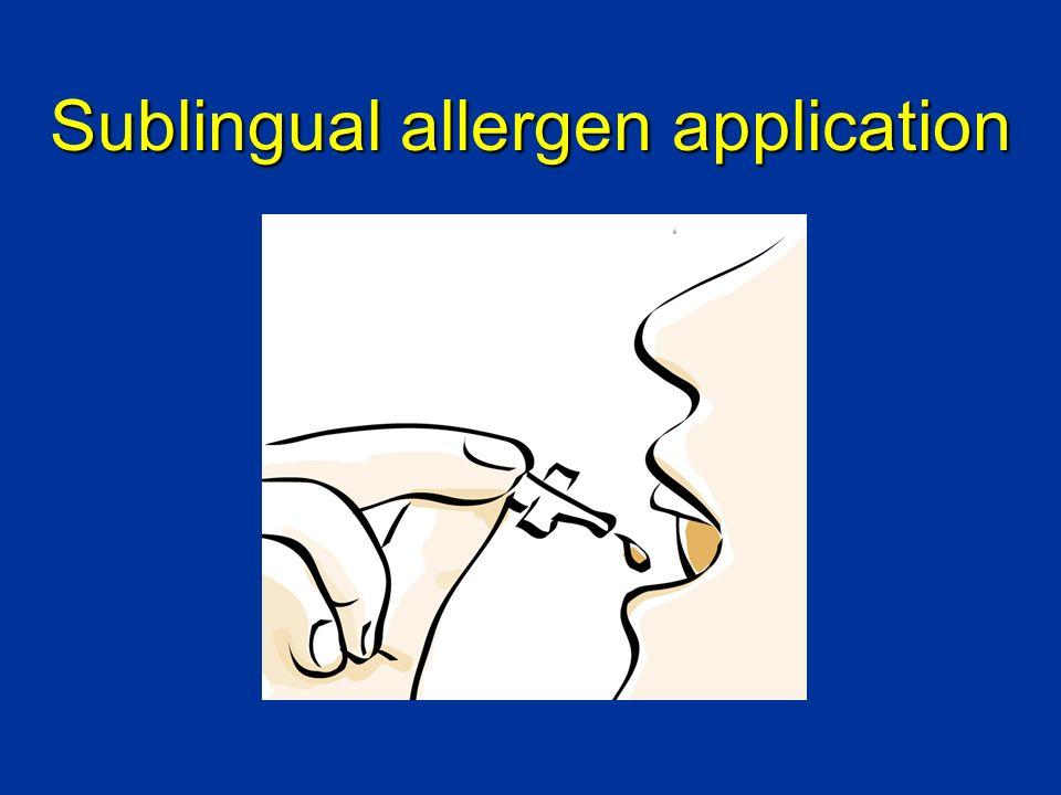 Sublingual allergen application