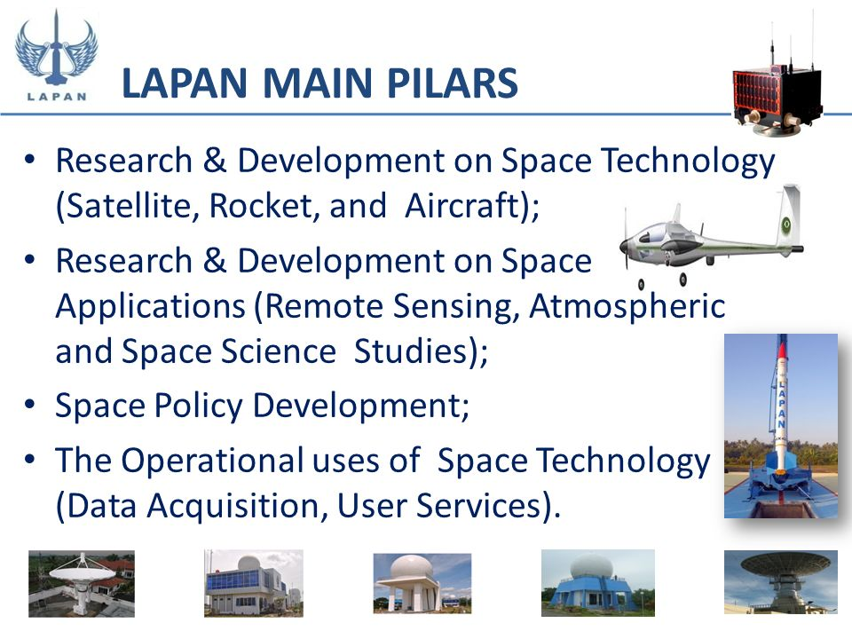 Research & Development on Space Technology (Satellite, Rocket, and Aircraft); Research & Development on Space Applications (Remote Sensing, Atmospheri