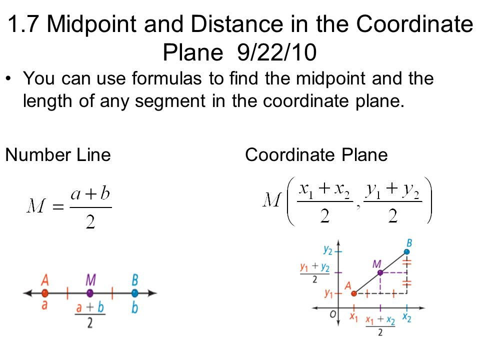 Finding the Midpoint Segment AB has endpoints at -4 and 9. What is the coordinate of its midpoint?
