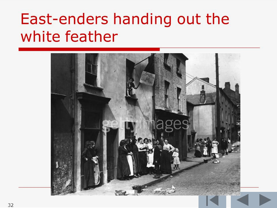 East-enders handing out the white feather 32