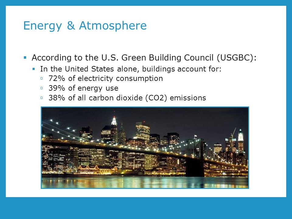 Energy & Atmosphere According to the U.S.