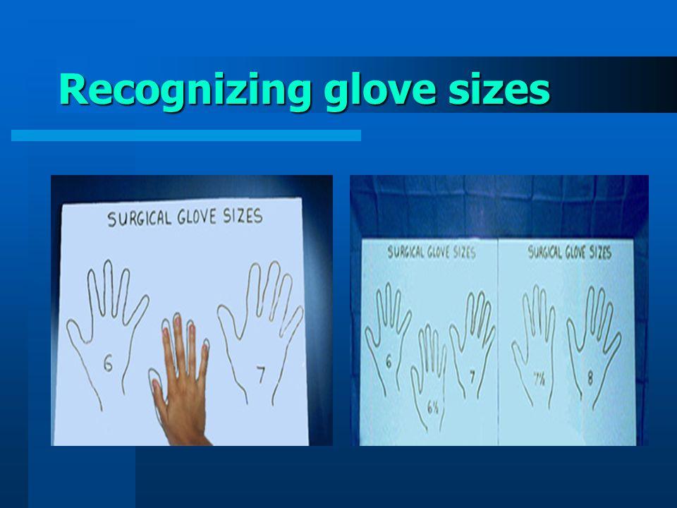 Recognizing glove sizes