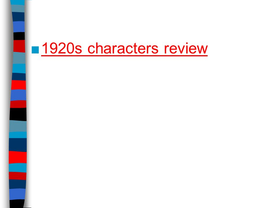 1920s characters review
