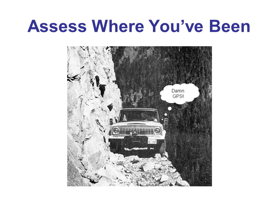 Assess Where Youve Been Damn GPS!